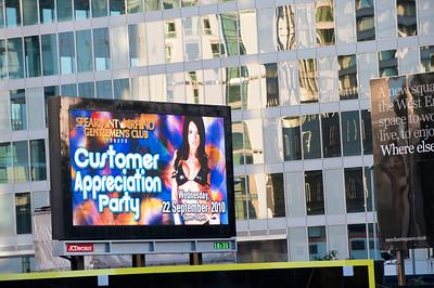 Digital billboard by A40, London, United Kingdom