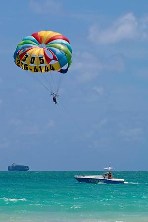 Beach, parasailing, South Beach, Miami, Gold Coast, Florida, United States of America