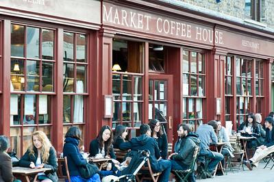 Coffee shop by Spitalfields Market, London, United Kingdom