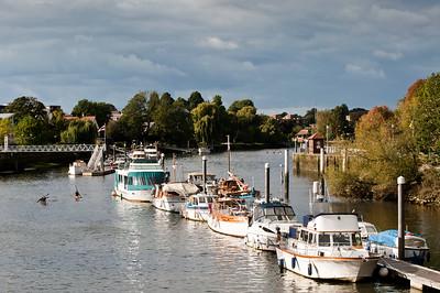 Thames River in Teddington, Surrey, United Kingdom
