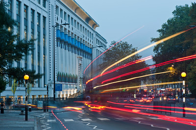 Carreras Cigarette Factory on Hampstead Road NW1 in the evening, Camden, NW1, London, United Kingdom