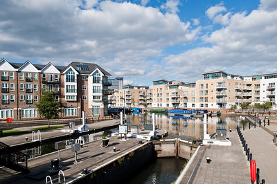 Modern development by Brentford Lock, London, United Kingdom