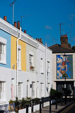 Houses along Kenway Road, Earls Court, SW5, London, United Kingdom