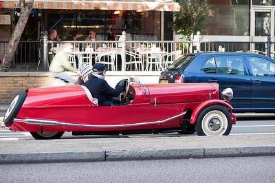 Vintage car on the street of Knightsbridge, SW7, London, United Kingdom