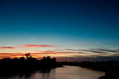 Thames River at sunset, Hammersmith, W6, London, United Kingdom