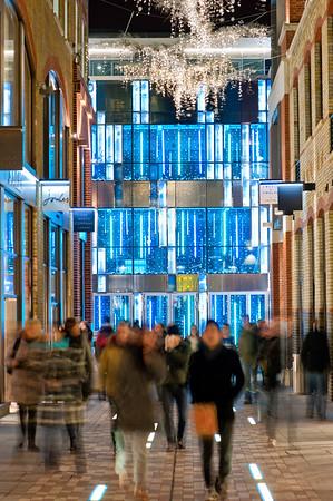 Christmas illuminations during Christmas season 2010, Slingsby Place, WC2,  London, United Kingdom