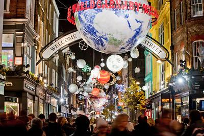 Carnaby Street illuminated for Christmas season 2010, London, United Kingdom