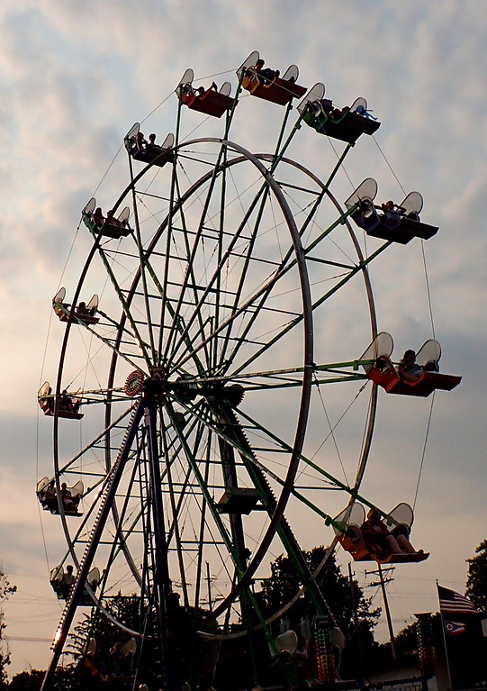 . Jonathan Tressler - The News-Herald. A scene from the last day of the 195th Annual Great Geauga County Fair.A