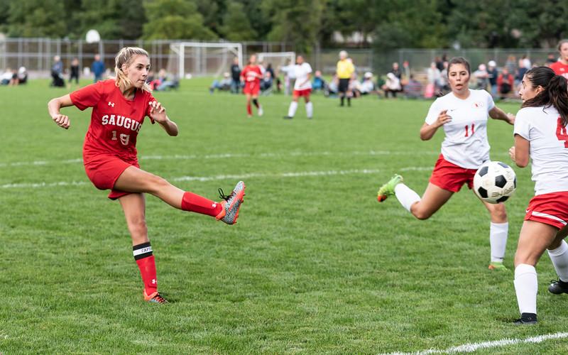 9 20 18 Everett at Saugus girls soccer