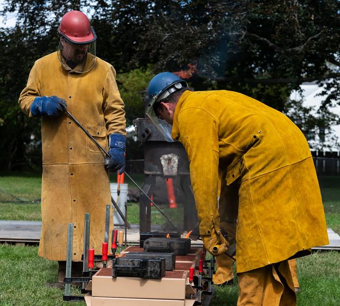 9 22 18 Saugus Ironwork iron pour 2
