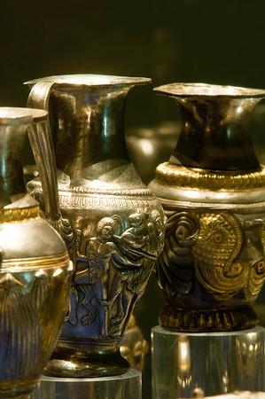 Thracian artifacts : Rogozen Treasure at Historical Museum, Vratsa, Bulgaria