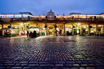 Covent Garden in the evening, London, United Kingdom