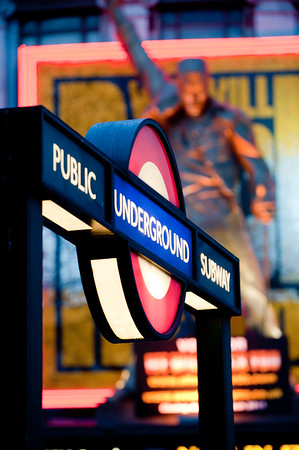 Underground station on Oxford Street, London, United Kingdom