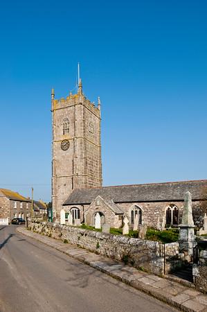 Parish church in Paul near Mousehole, Cornwall, United Kingdom