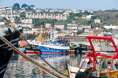 Newlyn harbour, Penzance, Cornwall, United Kingdom