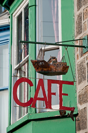 Cafe by Newlyn harbour, Penzance, Cornwall, United Kingdom