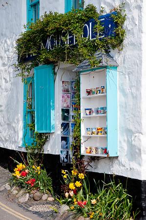 Souvenir shop in Mousehole, Cornwall, United Kingdom