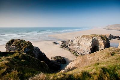 Coast near Perranporth, Cornwall, United Kingdom