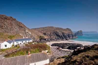 Coast near Kynance Cove, Cornwall, United Kingdom
