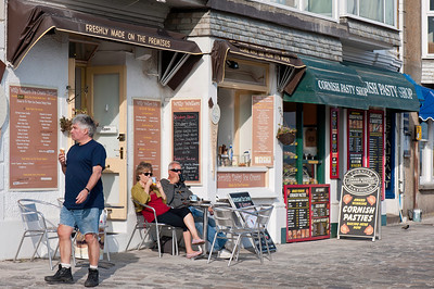 Shops on seafront, St Ives, Cornwall, United Kingdom