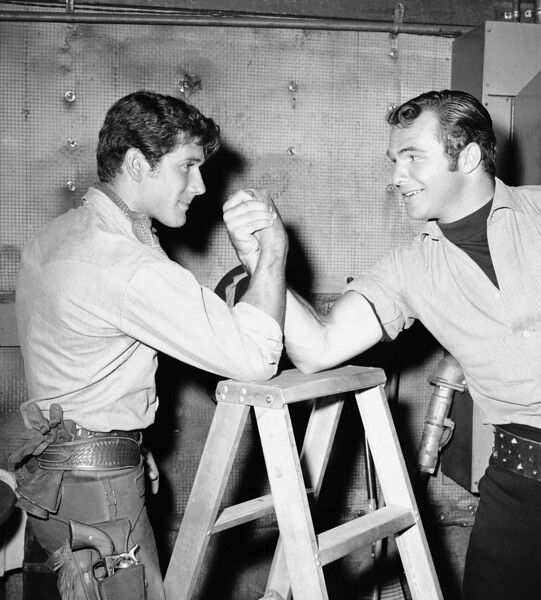 Burt Reynolds and Robert Fuller
