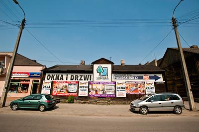 Shops in Wierzbnik, Starachowice, Poland