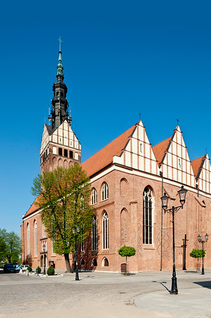 St Nicholas Cathedral in Restored Old Town, Elblag, Warmia Region, Poland