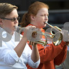 "Sam Buckner for Shaw Media.<br /> Ben Younker and McKenzie McConnell play ""America the Beautiful"" with the Genoa-Kingston Middle School band during the 9/11 Remembrance Day assembly on Monday September 11, 2017."