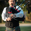 "Sam Buckner for Shaw Media.<br /> Justin Logsdan play ""Amazing Grace"" on the Bagpipes at the end of the 9/11 remembrance day assembly on Monday September 11, 2017."