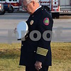Katrina J.E. Milton - kmilton@shawmedia.com<br /> Retired Sycamore Fire Chief Bill Riddle bows his head during a moment of silence at the 9/11 Memorial Service held Monday by the Sycamore Fire and Police Department.