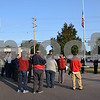 Katrina J.E. Milton - kmilton@shawmedia.com<br /> Current and retired members of the Sycamore Fire and Police Departments, city and state politicians and community members attended the 9/11 Memorial Service held Monday by the Sycamore Fire and Police Department. The memorial service took place at the flag pole at Johnson's Junction, with a moment of silence held at the time the first plane hit the Twin Towers.