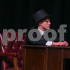 Bank Chairman played by Andre Haller-Wade rehearses September 11th of Mary Poppins second half of the show.
