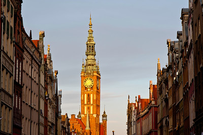 View along Ulica Dluga, Old Town, Gdansk, Poland