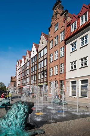 Street fountain, Gdansk, Poland