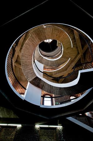 Spiral stircase in defence tower, Frombork, Warmia Region, Poland