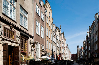 Historic street Mariacka in Old Town, Gdansk, Poland
