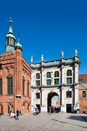 Golden Gate to Old Town, Gdansk, Poland