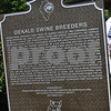 Shown is a closer look at the text on the historical marker.