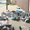 Inflatable dummies sit ready during a hazard material training exercise held at Kishwaukee Hospital on Sep. 12.
