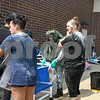 Dominique Clemet passes out kits to patients who have come in contact with hazard material during a hazard material exercise held at Kishwaukee Hospital on Sep. 12.
