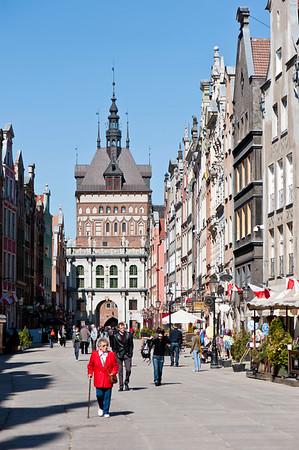 Ulica Dluga, Old Town, Gdansk, Poland