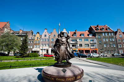 Statue of Swietopelk Wielki, Duke of Pomerania, Gdansk, Poland