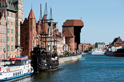 Old Town overlooking Motlawa River, Gdansk, Poland