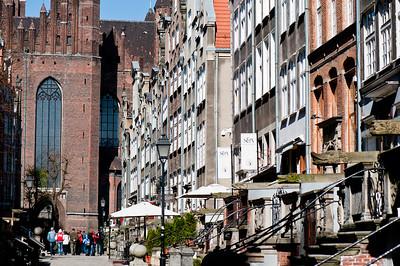 Historic street Mariacka, Old Town, Gdansk, Poland