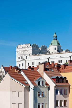 Pomeranian Dukes Castle and restored Old Town, Szczecin, Poland