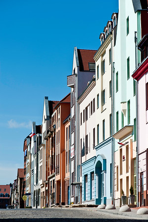 Restored town houses, Old Town, Szczecin, Poland