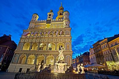 Town Hall, Stary Rynek, Poznan, Wielkopolska, Poland