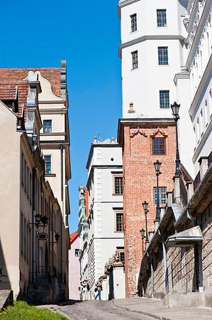Street leading to Pomeranian Dukes Castle, Old Town, Szczecin, Poland
