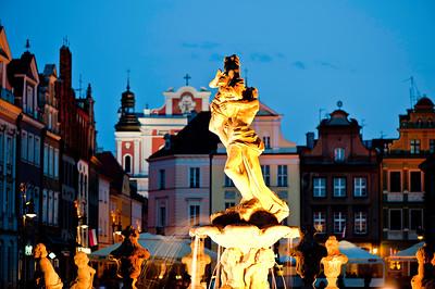 Propserpina's fountain, Stary Rynek, Poznan, Wielkopolska, Poland