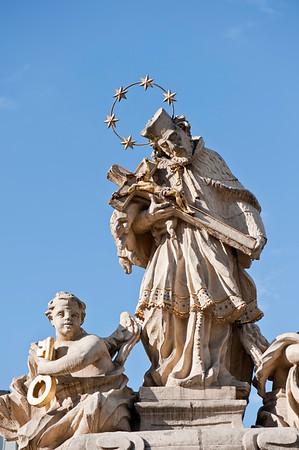 Statue of St John, Stary Rynek, Poznan, Wielkopolska, Poland